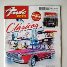 Coches: REVISTA AUTO FOTO Nº 218 DODGE DART 270 GL AMERICAN CARS BISCUTER FORD MUSTANG. Lote 197850508