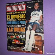 Coches: AUTOPISTA Nº640 1971 POSTER CENTRAL GRAHAMHILL G.P. MADRID F-2 JARAMA NUEVO SEAT 124-D JEEP COMMANDO. Lote 199005251