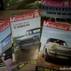 Coches: LOTE DE 23 REVISTAS VELOCIDAD ORIGINALES AÑOS 1967-70. Lote 199207471