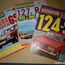 Coches: LOTE DE 3 REVISTAS AUTOPISTA ORIGINALES Nº 508-754-755 AÑOS 1967-73. Lote 199207678