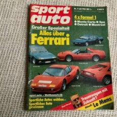 Voitures: SPORT AUTO Nº 7 JULIO 1983 FERRARI ( EDICION EN ALEMAN. Lote 199758461