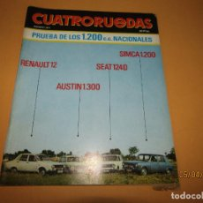 Coches: ANTIGUA REVISTA MENSUAL DEL AUTOMÓVIL CUATRORUEDAS AGOSTO DEL AÑO 1971. Lote 199803536
