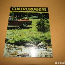 Coches: ANTIGUA REVISTA MENSUAL DEL AUTOMÓVIL CUATRORUEDAS NOVIEMBRE DEL AÑO 1966. Lote 199804063