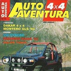 Coches: AUTO AVENTURA 4X4 Nº 72 VW CARAVELLE SYNCRO DAKAR 4X4 MITSUBISHI MONTERO TDI GLS. Lote 202893167