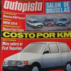 Carros: REVISTA AUTOPISTA 1384 LAND ROVER BMW 324 VW PASSAT FIAT PANDA. Lote 203610238