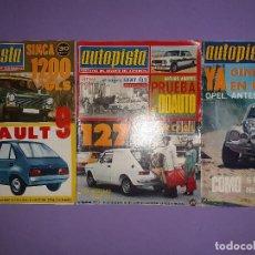 Carros: LOTE 3 REVISTAS AUTOPISTA Nº 806- 825- 827- AÑO 1974. Lote 203821801