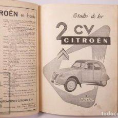 Coches: PUBLICACIÓN / REVISTA TÉCNICA DEL AUTOMÓVIL / RTA - ESTUDIO DE LOS CITROËN 2 CV DE 1949 A 1957. Lote 203893748
