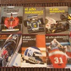 Carros: LOTE 10 REVISTA LIBRO ANUAL EL AÑO AUTOMOVIL 1974 - 1984. Lote 205244825
