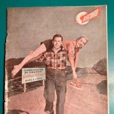 Coches: REVISTA RECORD,PUBLICACIÓN GRÁFICA GALLEGO FERRER AGOSTO 1950 DE MECÁNICA E INNOVACIONES TECNICAS. Lote 205577372
