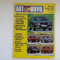 Coches: REVISYTA AUTOMOVIL Nº 55 - AGOSTO 1982 - CAPRI 2.8I - ESCORT XR3 - FIESTA XR2 - GRANADA 2.8I. Lote 206185448