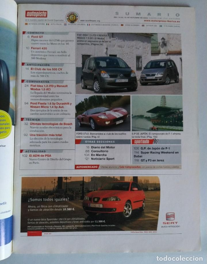 Coches: Revista Autopista Nº2361 octubre 2004 Club 500 CV Ford GT y Ferrari 430, Especial 4x4 - Foto 2 - 206391162