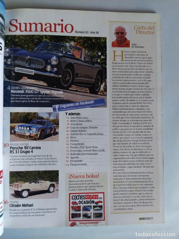 Coches: Revista Coches Clásicos Nº 83 Año 2011 - Foto 2 - 206394511