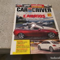 Coches: CAR & DRIVER N° 189 VW BEETLE, ULTIMOS CABRIOS, PORSCHE 911,MASERATI,ABARTH JUNIO 2011. Lote 206583580