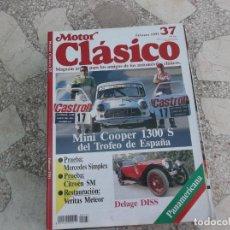 Coches: MOTOR CLASICO Nº 37, MINI COOPER 1300 S,MERCEDES SIMPLEX,CITROEN SM, DELAGE DISS,. Lote 206976117