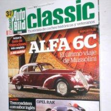 Coches: REVISTA AUTO BILD CLASSIC Nº15 TRIMESTRAL 2012 ALFA 6C,OPEL RAK,COCHES DEL TITANIC,3 ROADSTER INGLES. Lote 207076970