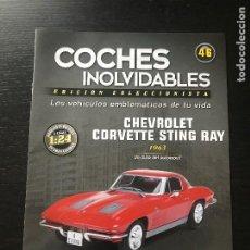 Auto: CHEVROLET CORVETTE STING RAY (1963) - FASCICULO Nº 46 DE LA COLECCION COCHES INOLVIDABLES DE SALVAT. Lote 207563822