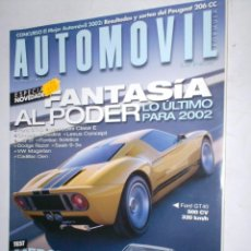 Coches: REVISTA AUTOMOVIL Nº289 FEBRERO 2002 FORD GT40,MERCEDES CLASE E,CHRYSLER CROSSFIRE,LEXUS,MG TF,SAAB. Lote 207602761