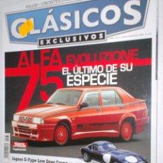 Coches: REVISTA CLASICOS EXCLUSIVOS Nº37 2009 ALFA 75,JAGUAR E-TYPE,RENAULT 6,FERRARI 250,BUICK S.8,RETROMO. Lote 207849548