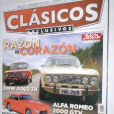 Coches: REVISTA CLASICOS EXCLUSIVOS Nº39 2009 ALFA 2.0 GTV,BMW 2002 TII,PEGASO Z-102,ASTON DB4,FERRARI 330,. Lote 207850586