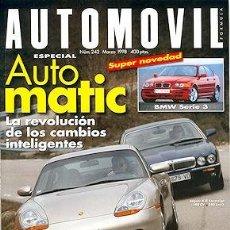 Coches: AUTOMOVIL 242 JAGUAR XJ8 PORSCHE 911 CARRERA LEXUS GS300 AUDI A8 4.2 QUATTRO BMW 740I SEAT AROSA. Lote 208940325