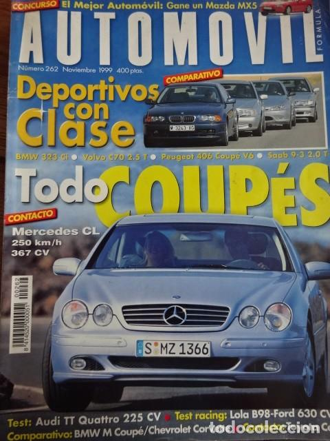 Coches: REVISTA AUTOMOVIL 262 BMW 323 ci Mercedes CL Volvo C70 Peugeot 406 coupe Saab 9-3 M coupe Audi TT - Foto 1 - 243888040