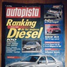 Coches: AUTOPISTA MARZO 1999 Nº 2071 - LANCIA LYBRA, BMW M5, RENAULT MEGANE 1.4 16V. Lote 209695750