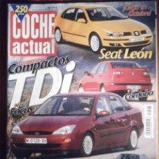 Coches: COCHE ACTUAL - AGOSTO 1999 Nº 593 - SEAT CÓRDOBA, SEAT LEÓN, ROVER 75, PEUGEOT 607. Lote 209701540