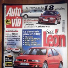 Coches: AUTO VÍA - AUTOVIA - DICIEMBRE 1999 Nº 116 - ROVER 420 SDI, SKODA FABIA 1,4, SEAT LEON 1.8 20 VT. Lote 209702518