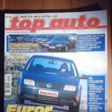 Coches: TOP AUTO - MARZO 1999 Nº 113 - ALFA ROMEO 156 1.9 JTD, MAZDA 626 DI TD, BMW SERIE 3 CI, ROVER 75. Lote 209703877