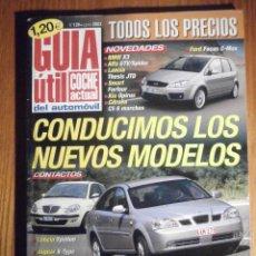 Coches: GUIA UTIL COCHE ACTUAL - TODOS LOS PRECIOS AGOSTO 2004 Nº 136 - LANCIA THESIS JTD, BMW X3. Lote 209706202