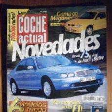 Coches: COCHE ACTUAL - FEBRERO 1999 Nº 566 - ROVER 75, MAZDA 323 1.8, AUDI S4, MERCEDES C43. Lote 209744507