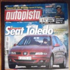 Coches: AUTOPISTA OCTUBRE 1998 Nº 2049 - SEAT TOLEDO, ROVER 75, JAGUAR S-TYPE, CARISMA EVO V. Lote 209810272