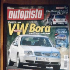 Coches: AUTOPISTA SEPTIEMBRE 1998 Nº 2045 - RENAULT SPORT V6 24V, LAND ROVER DISCOVERY. Lote 209812090