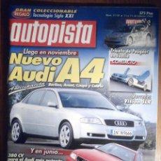 Coches: AUTOPISTA FEBRERO 2000 Nº 2118 - AUDI A4, RS4, ROVER 25 2.0 SDI, MERCEDES VISION SLR. Lote 209818765