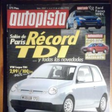 Coches: AUTOPISTA OCTUBRE 1998 Nº 2047 - VW LUPO TDI, CHRYSLER 300M 3.5, FORD FOCUS WRC. Lote 209820103