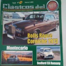 Coches: REVISTA CLASICOS DEL MOTOR AÑO 2002 DEDICADO AL ROLLS ROYCE CORNICHE 1973. Lote 209875723