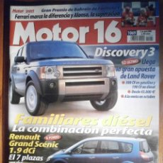 Coches: MOTOR 16 - ABRIL 2004 - Nº 1069 - LAND ROVER DISCOVERY 3, RENAULT GRAND SCENIC. Lote 209973712