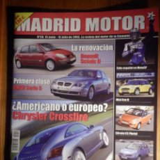 Coches: MADRID MOTOR - JUNIO 2003 Nº 59 - CHRYSLER CROSSFIRE, MINI ONE D, CITROEN C3 PLURIEL. Lote 210125103