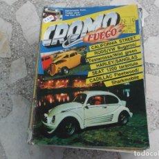 Coches: REVISTA DE COCHES Y MOTOS ,CROMO & FUEGO Nº 19, 1989,VER FOTO. Lote 210559620