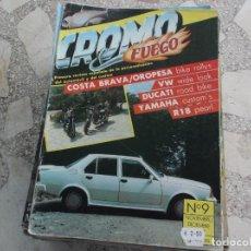 Coches: REVISTA DE COCHES Y MOTOS ,CROMO & FUEGO Nº 9, VER FOTO. Lote 210560667