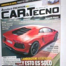 Coches: REVISTA CAR & TECNO Nº66 2011 LAMBOR AVENTADOR,MACLAREN MP4,BENTLEY GT,PEUGEOT RCZ,AUDI TT,SCIROCCO. Lote 210666449