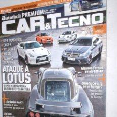 Coches: REVISTA CAR & TECNO Nº83 2012 ASTON VANQUISH,GTR-TRACK,EXIGE S,911GT3,M3 GTS,LOTUS,C63 AMG,SEATLEON. Lote 210671067