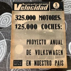Coches: REVISTA GRAFICA DEL MOTOR VELOCIDAD NUM 250 DE 1966. Lote 211789058