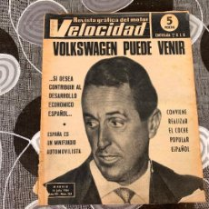 Coches: REVISTA GRAFICA DEL MOTOR VELOCIDAD NUM 253 DE 1966. Lote 211789131