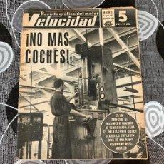 Coches: REVISTA GRAFICA DEL MOTOR VELOCIDAD NUM 308 DE 1967. Lote 211789285