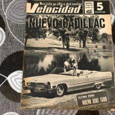 Coches: REVISTA GRAFICA DEL MOTOR VELOCIDAD NUM 314 DE 1967. Lote 211789701