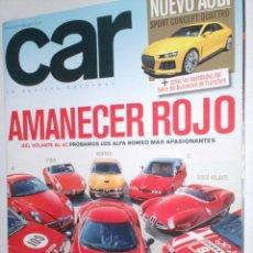 Coches: REVISTA CAR Nº79 2013 AUDI SPORT,ALFAS GIULIA GTAM,4C,155 VTTI,SX,MONTREAL,SPIDER,8C,DISCO VOLANTE. Lote 211972593