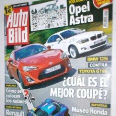 Coches: REVISTA AUTO BILD Nº349 2012 OPEL ASTRA,BMW 125I,TOYOTA GT86,RENAULT ALPINE,MUSEO HONDA,MINI PACEMAN. Lote 212001357