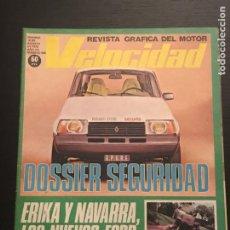 Auto: VELOCIDAD Nº 936 - DOSSIER SEGURIDAD MOTO SHIFTY 900 VOLVO 345 FORD ERIKA NAVARRA CABINAS MERCEDES. Lote 212129486