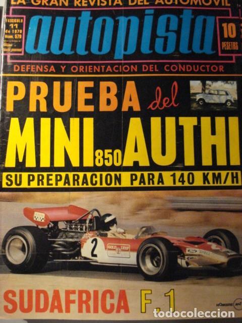 REVISTA AUTOPISTA 579 MINI AUTHI 850 PRUEBA (Coches y Motocicletas Antiguas y Clásicas - Revistas de Coches)